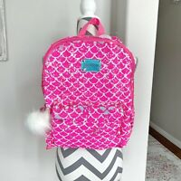 NWT Justice Girls Pink Mermaid Scale Sequin Full Size Backpack New