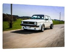Volkswagen Golf MK1 Gti 30x20 Inch Canvas - VW Framed Picture Classic Car