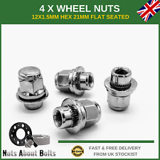 4 x Original Style Wheel Nuts M12x1.5 For Toyota Hilux (1983-05)
