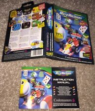 NO GAME! Micro Machines Box Art Sleeve And Manual Only Sega Mega Drive