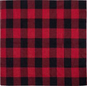 """Red Plaid 100% Cotton Biker Military Bandanas (27"""" x 27"""")"""