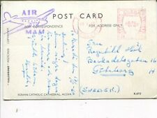 Ghana meter mark picture post card to Sweden 1960