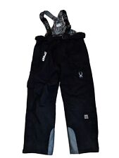 Men's SPYDER Black Ski Snow board winter Bibs Overalls Pants Size XL Thinsulate