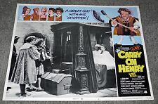 CARRY ON HENRY 8TH original 1972 lobby card SID JAMES 11x14 movie poster