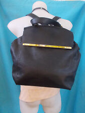 COLETTE BLACK FAUX LEATHER BACKPACK-AS NEW