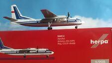 Herpa Wings 1:200 558914  Aeroflot Antonov AN-24RV - CCCP-46466 Metallmodell