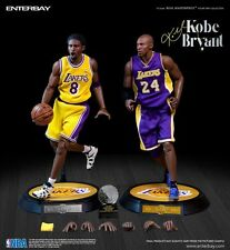 $270 NBA x Enterbay Kobe Bryant 1/6 Scale 12 Inch Figure - Duo Pack purple gold