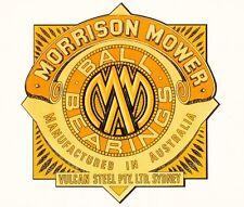 Morrison Sydney Vintage Motor Mower Repro Catcher Decal