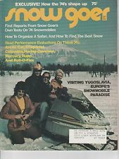 SEPT 1973 SNOW GOER snowmobile magazine
