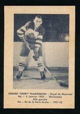 1951-52 Laval Dairy (QSHL) #85 GERRY PLAMONDON (Montreal) -Canadiens
