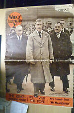 1936 WEEKLY ILLUSTRATED- The King with Sir Kingsley Wood & E Brown in Distresses