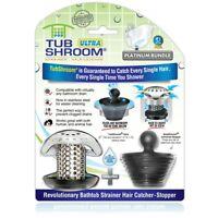 TubShroom Ultra Revolutionary Bath Tub Drain Protector Hair Catcher