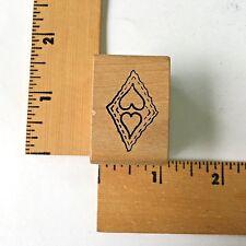 Magenta Rubber Stamps - Heart Stitched Diamond 08118.E - NEW