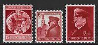 DR Nazi WWII Germany Rare WW2 MNH Stamps Hitler Birthday Fuhrer Girl Braunau '38