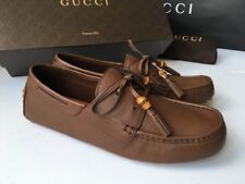 Gucci 367923 Men's Brown Leather Bamboo Tassel Loafer Driver US 10 UK 9,5 *NEW*