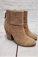 Rag & Bone Newbury Ankle Boots Camel Canvas Size 38 High Heel Booties