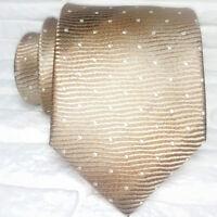 Cravatta uomo marrone Nuova seta 100% Made in Italy handmade Morgana marca