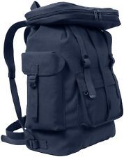 NAVY BLUE European Style HW Canvas Rucksack Backpack Book Bag Daypack 2304