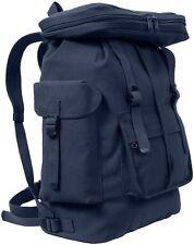 NAVY BLUE European Style HW Canvas Rucksack Backpack Book Bag Daypack 2304
