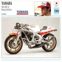 Fiche Photo Moto Japon Japan YAMAHA 500 OW 61 1982 Edit Edito Service