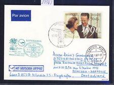 55963) LH FF München - Marseille France 6.1.97, Karte ab Belgien
