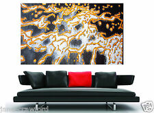 Huge Golden Reef Abstract Modern Aboriginal Painting on Canvas By Jane