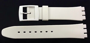 Plastic Resin SWATCH Replacement Watch Strap -17mm - White Resin