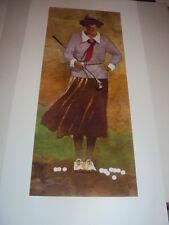 "Bart Forbes golf art print "" Lady Golfer "" Vintage Female Woman"