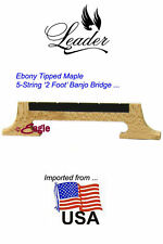 5-String 'USA Maples' Banjo Bridge - 2 Footed by Leader