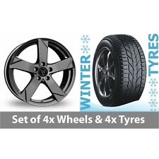 "4 x 15"" Wolfrace Kodiak Graphite Alloy Wheel Rims and Tyres -  195/55/15"