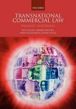 Transnational Commercial Law: Primary Materials: By Goode, Roy, Kronke, Herbe...