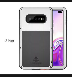 LOVE MEI Waterproof Aluminum Metal Tempered Glass Case For Samsung Galaxy S10
