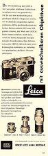 1955 Leica Wetzlar Kamera M3 Objektive 7x23 cm original Printwerbung