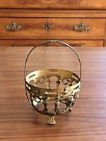 PANIER DE VITRINE ROCOCO ANCIEN EN LAITON DORÉ COURONNE DE LAURIER/ Brass basket