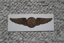 "AIR CREW WING NAVY 3ea DECALS 4.25""1.5"" MYLAR"