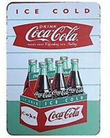 COKE COCA COLA 6 PACK BOTTLES TIN SIGN ICE COLD ART RESTAURANT DECOR POSTER