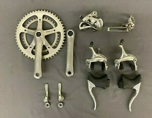 Vintage Shimano RX100 Road Bike Gruppo Crankset Derailleurs Brake & Shift Levers