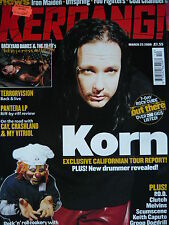 KERRANG 794 - KORN - BACKYARD BABIES - KITTIE