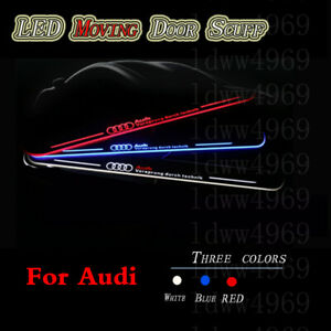 2pc LED light Car Front Door Sill Scuff Plate Pedal For Audi A4 2013-2021