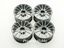 14S alloy wheel rim set for 1:10 1/10 on road rc cars like Tamiya - GRY