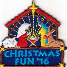 """""""CHRISTMAS FUN 16"""" - NATIVITY SCENE - RELIGIOUS -  Iron On Embroidered Patch"""