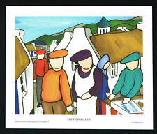 The Fish Seller/Fishing/N/Irish Art Group/Fine Print/Martin Laverty/Ireland/New