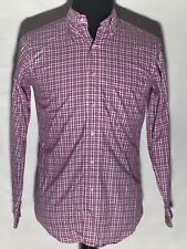 Brooks Brothers Pink Plaid Small S 100% Cotton Long Sleeve Button-Front Shirt
