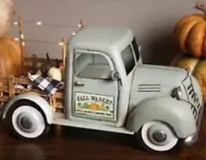 Farmers Market FALL MARKET Pick-Up Truck Antique Style Farmhouse Decor BNIB