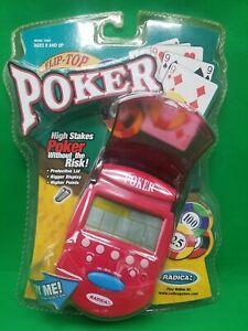 Vintage 2001 Radica Flip Top Poker Handheld Game Rare NIP New Sealed