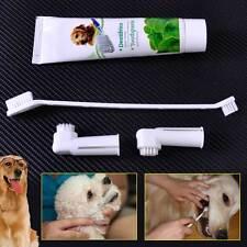 Brushes Dog Cat Pet Hygiene Teeth Care Toothbrush Toothpaste Set Kit New Dental