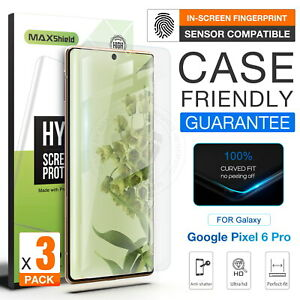 3X For Google Pixel 6/6 Pro Clear Hydrogel Full Coverage Screen Protector Film