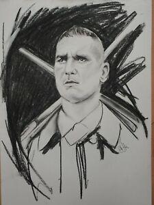 Vinnie Jones Lock Stock drawing sketch picture Original Wall Art