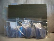 """Hanging File Folder 125 Plastic Index Tabs & Paper Inserts 1/5 Tab Cut 2"""" Tab"""