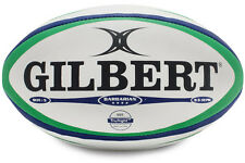 Gilbert Barbarian White Blue Green Rugby Match Ball Size 5